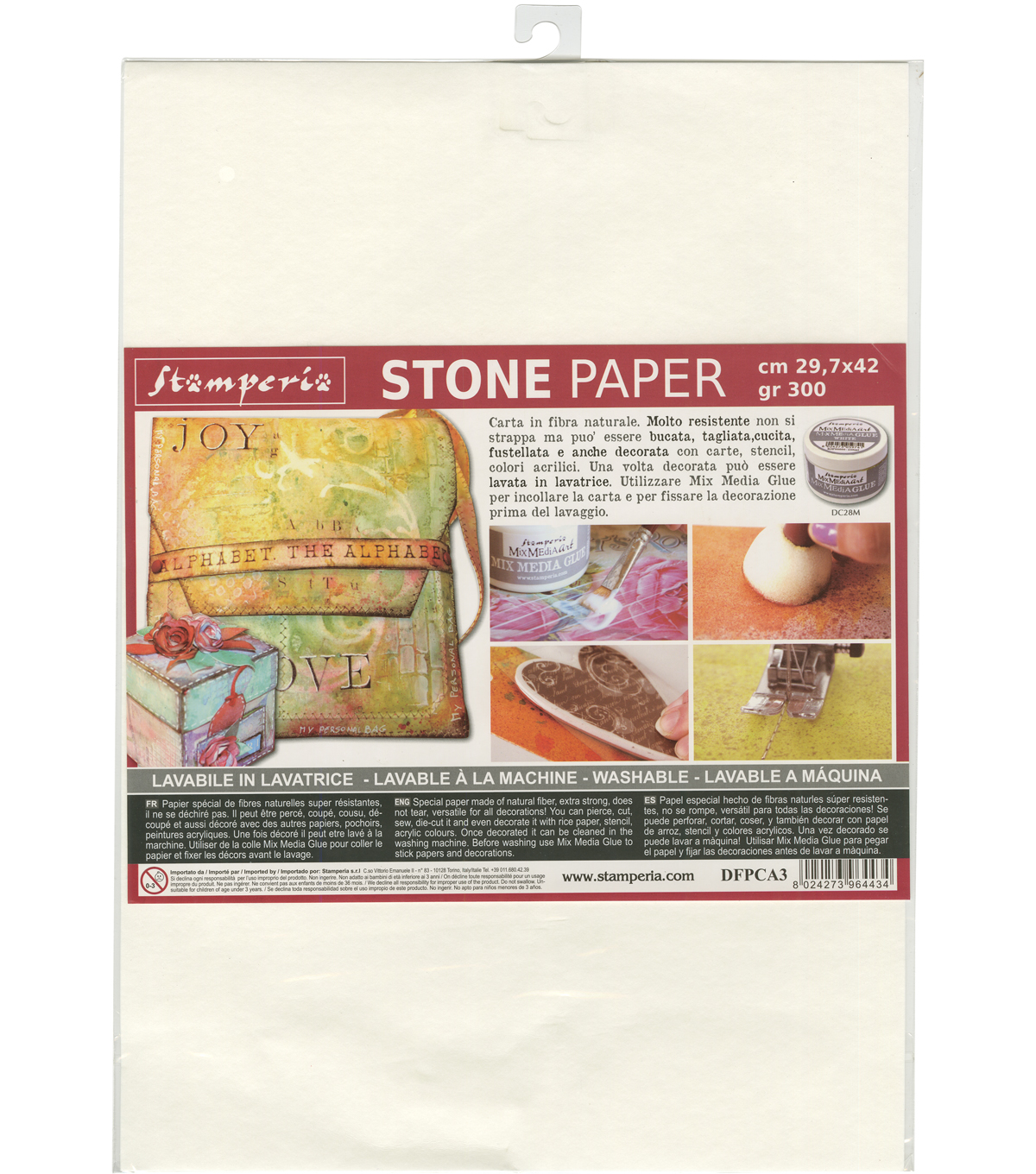 Stamperia Washable A3 Stone Paper