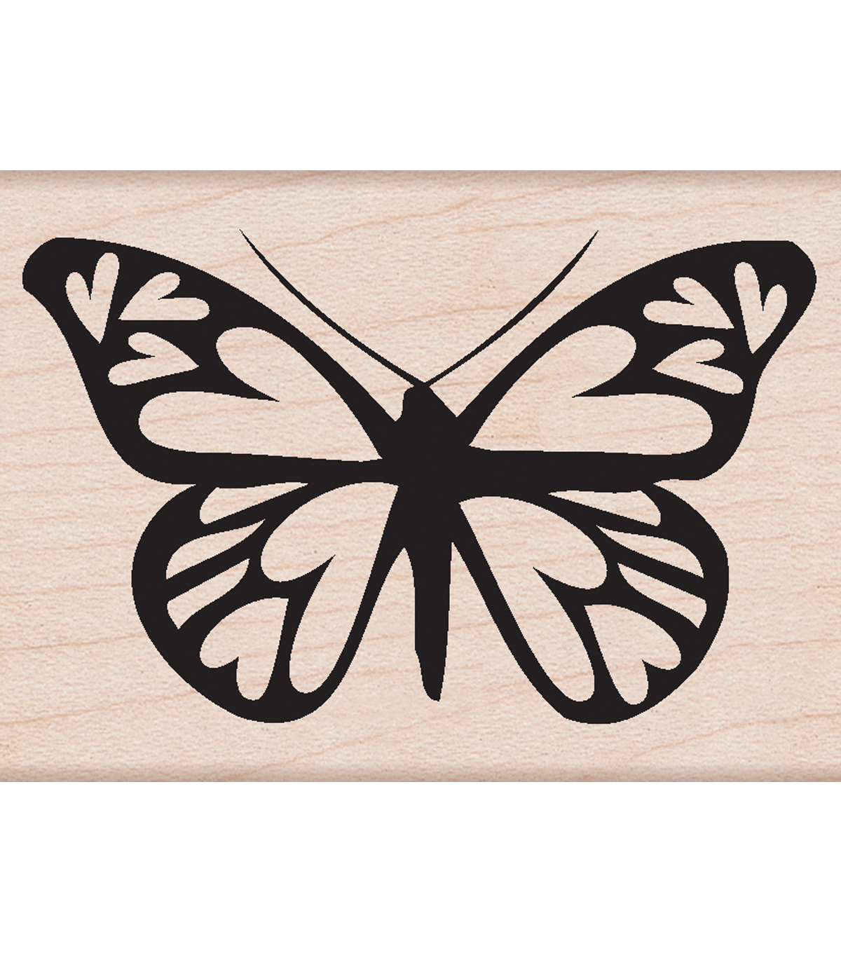 Hero Arts Mounted Rubber Stamps-Heart Winged Butterfly