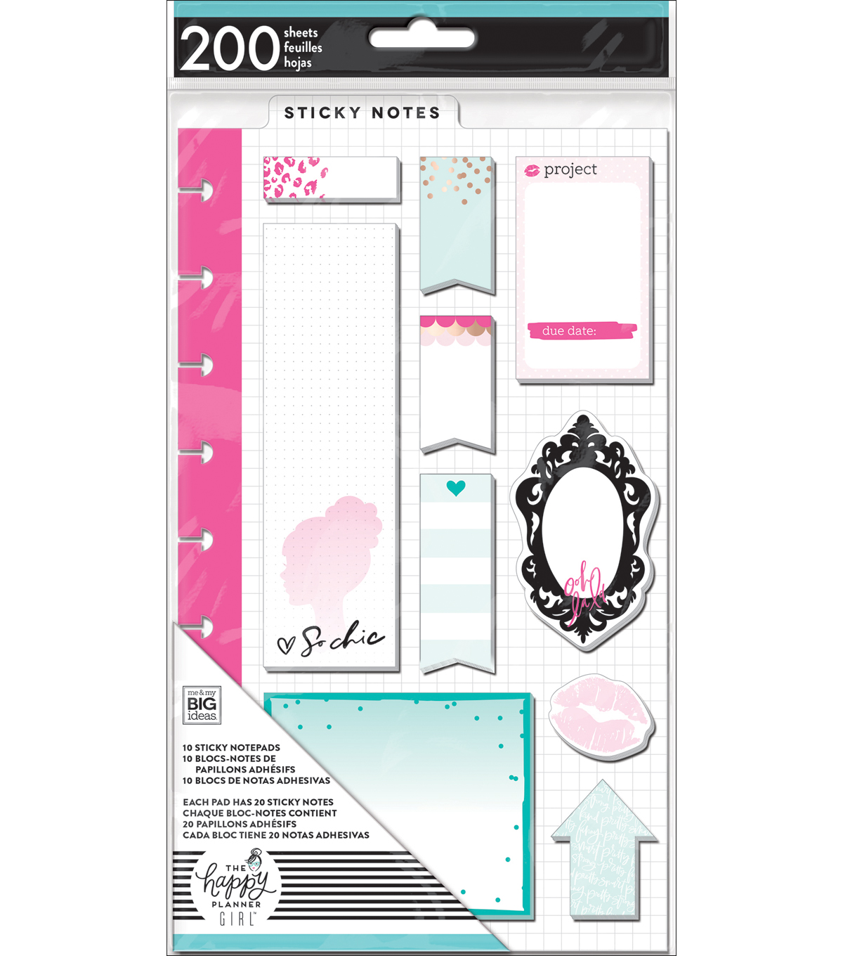 The Happy Planner Girl™ Glam Girl Collection Sticky Notes