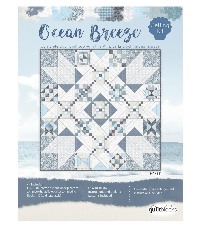 Quilt Block Ocean Breeze 135-Pieces Setting Kit | JOANN : joann fabrics quilt kits - Adamdwight.com