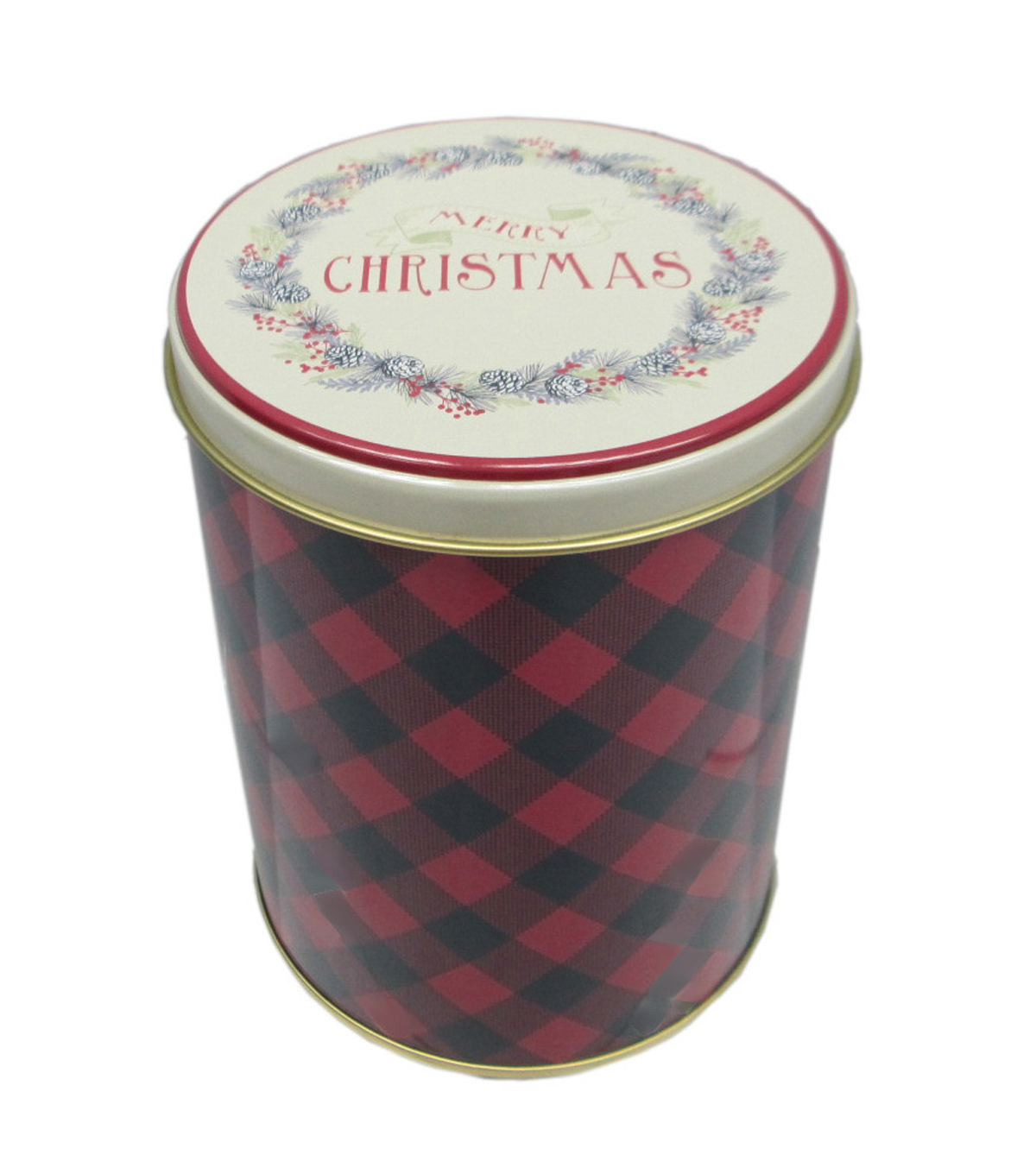 Maker's Holiday Small Tall Large Round Canister-Merry Christmas