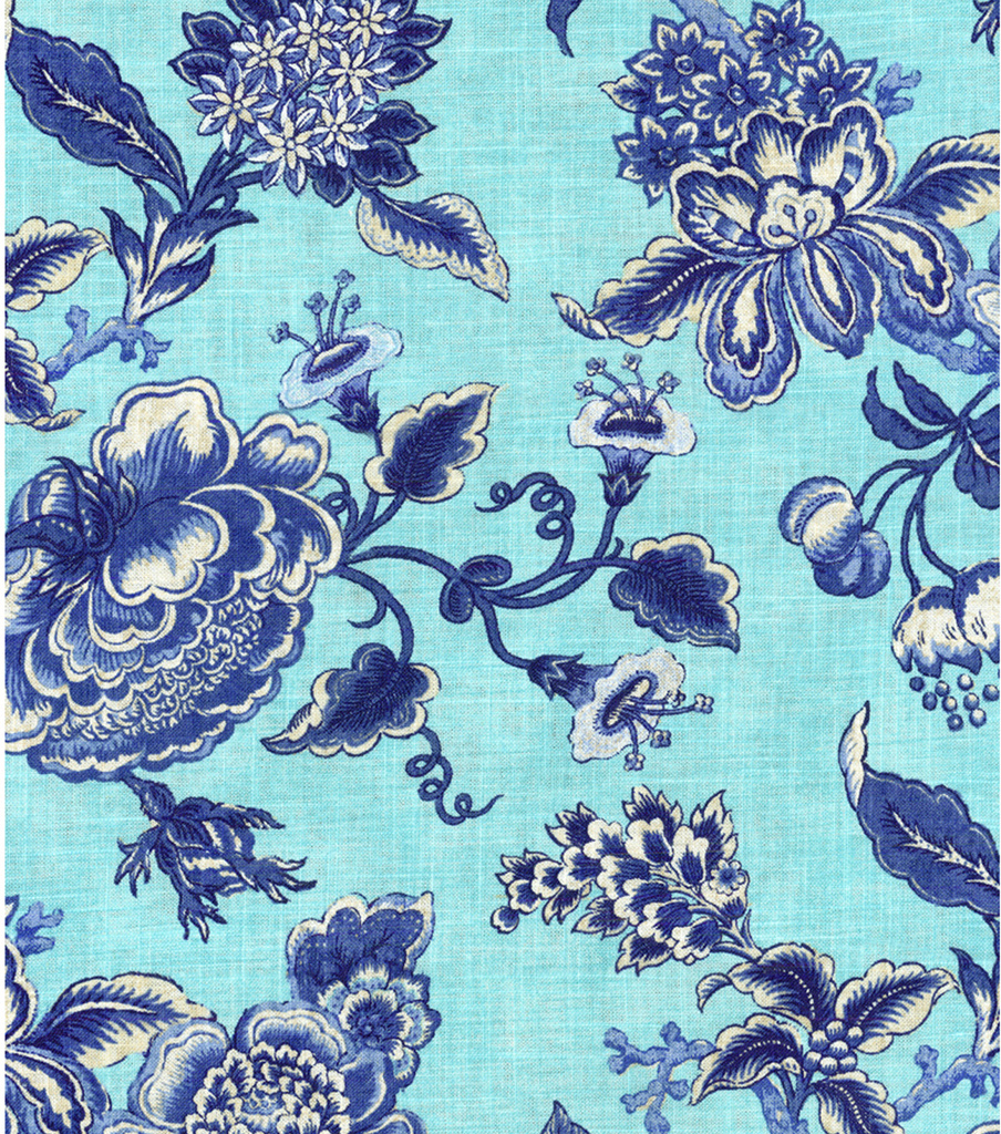 Williamsburg Print Fabric 54\u0022-Persiana/Porcelain