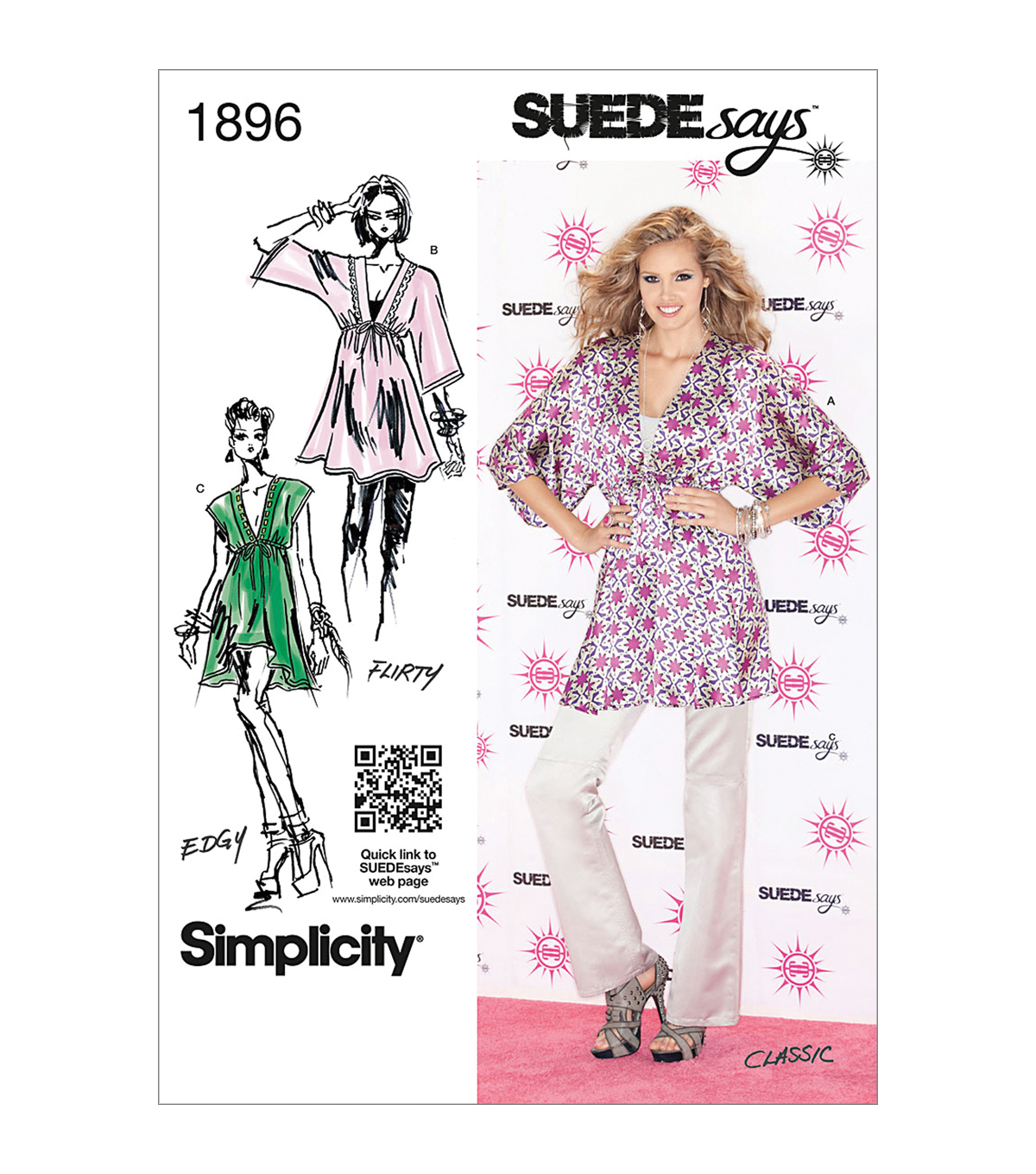 Simplicity Patterns Us1896A-Simplicity Misses Tops Vests-Xxs-Xs-S-M-L-Xl-Xxl