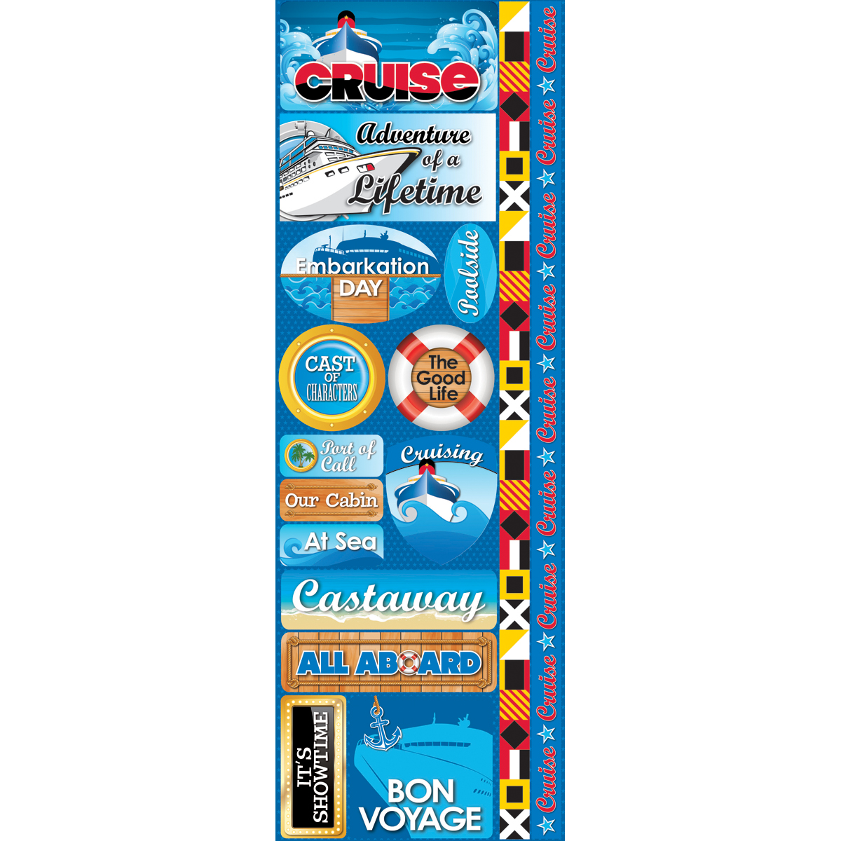 Reminisce Signature Series Cardstock Combo Sticker Cruise