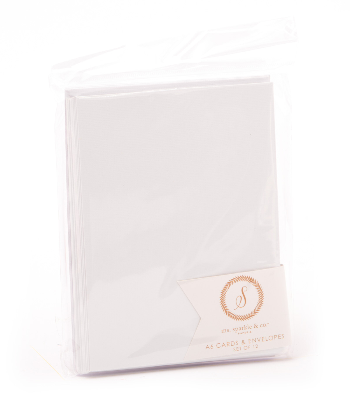 Ms. Sparkle & Co. A6 Cards & Envelopes-White