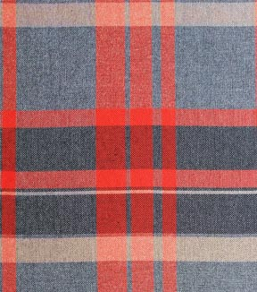 Perfectly Plaid Rayon Fabric 53\u0022-Gray & Orange