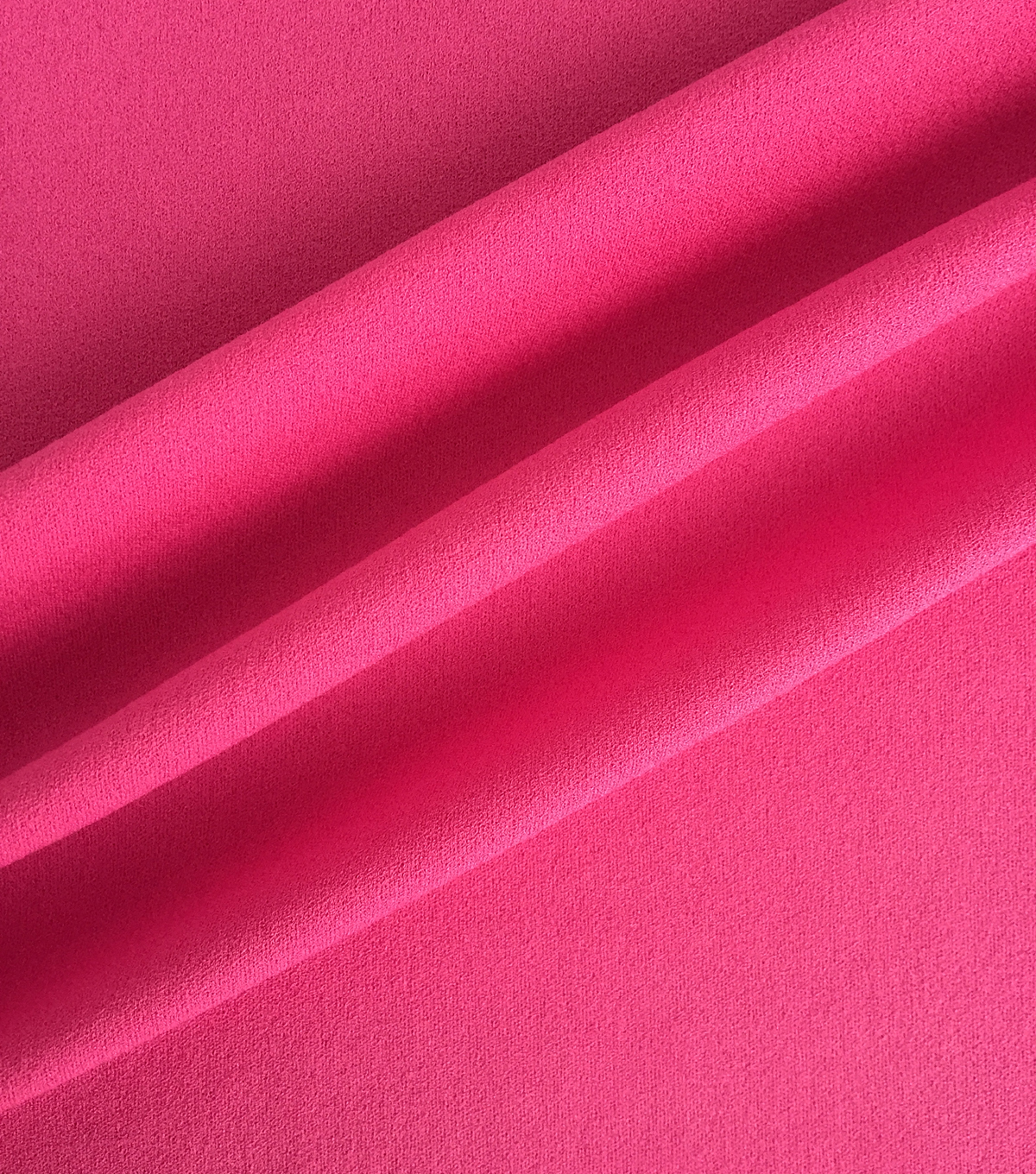 Spring Sheen Crepe Knit Fabric 57\u0022-Solid Fuchsia