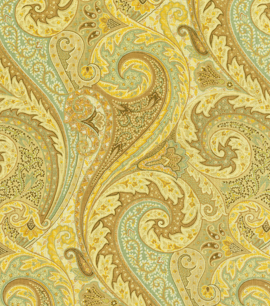 "Home Decor 8""x8"" Fabric Swatch-Williamsburg Jaipur Paisley Moonstone"