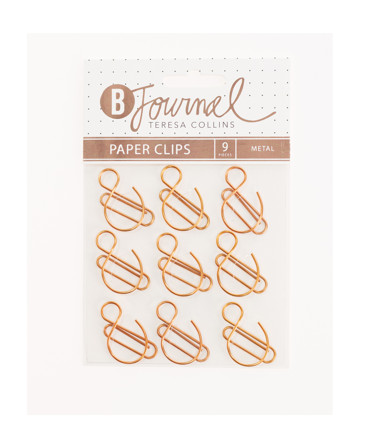 Teresa Collins™ B-Journal Pack of 9 Paper Clips-Ampersand