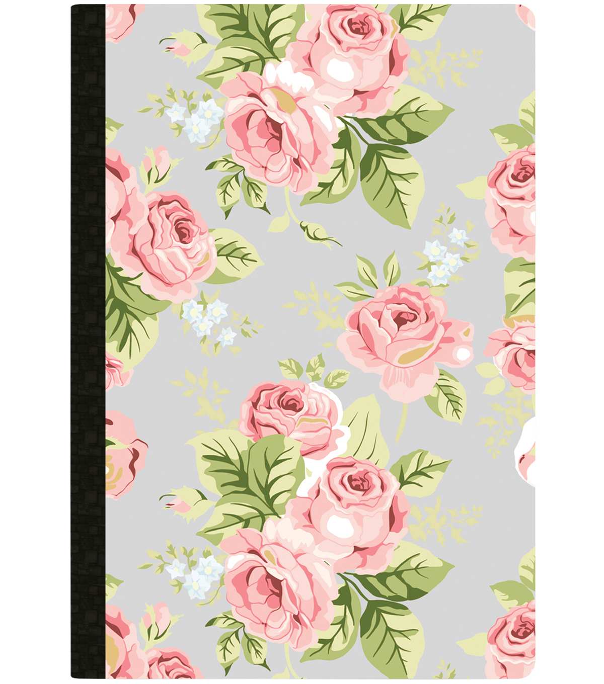 Composition Planner Notebook 7.5\u0022X9.7\u0022-Gray Floral