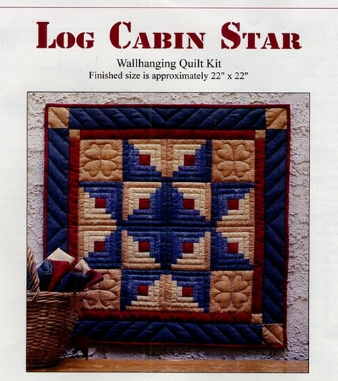 Rachel\u0027s of Greenfield Log Cabin Star Wallhanging Quilt Kit