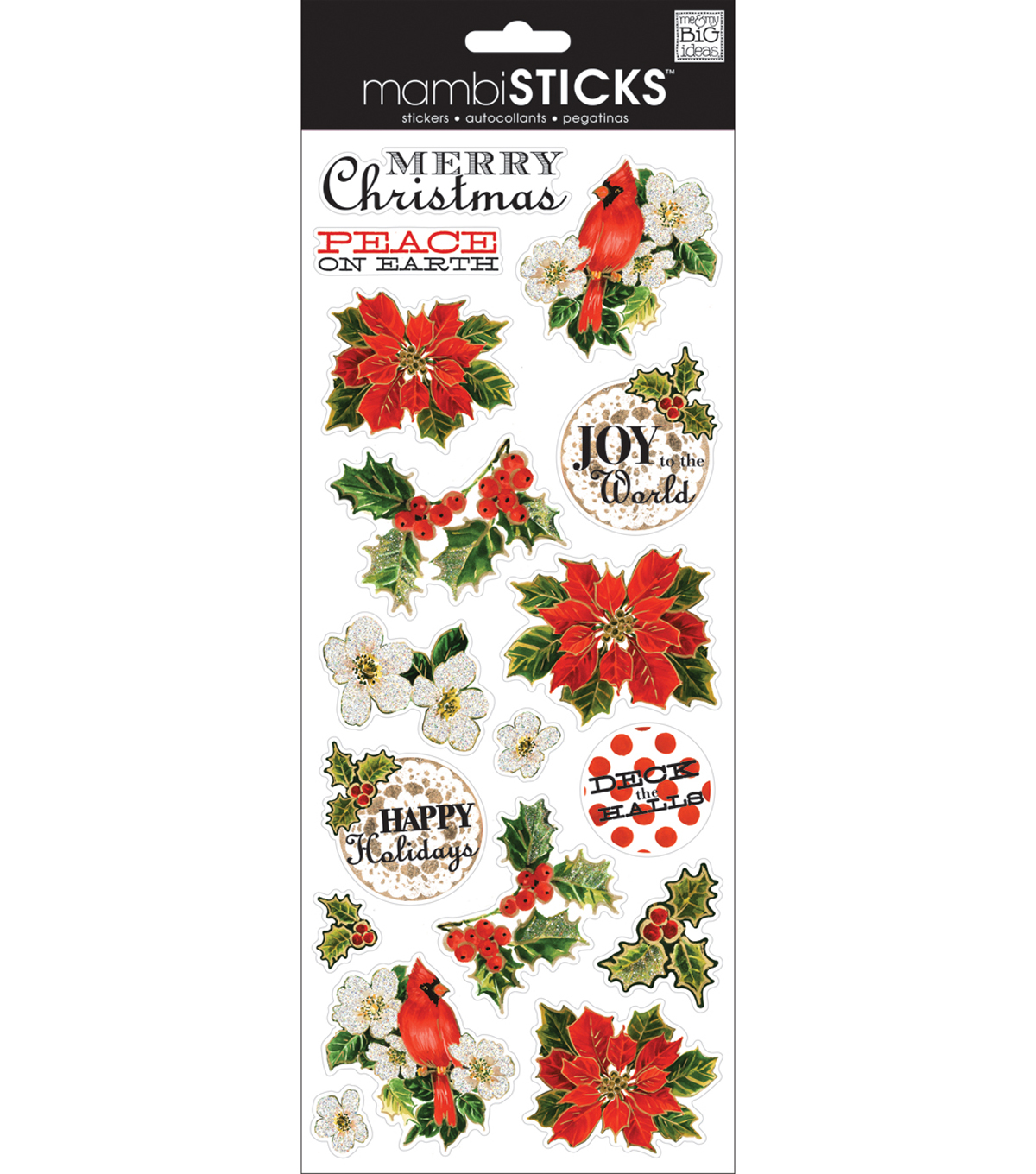Specialty Stickers-Christmas Painted