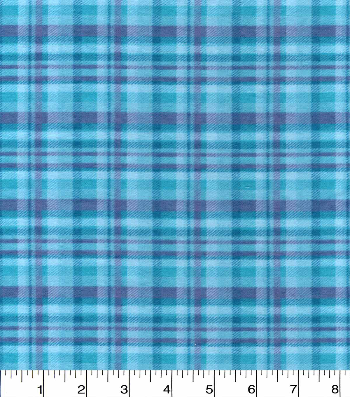 Snuggle Flannel Fabric 42\u0022-Aqua Plaid