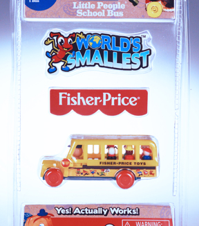 Worlds Smallest Fisher Price Bus