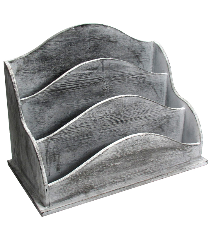 Fab Lab™ Wood Letter Storage-Gray