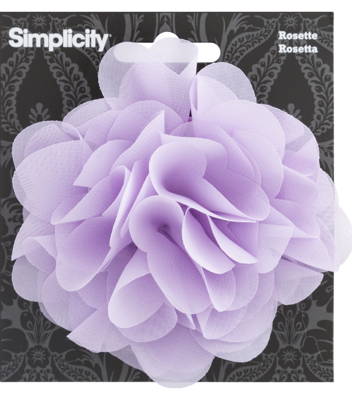 Rosette Flower Accessory Lilac