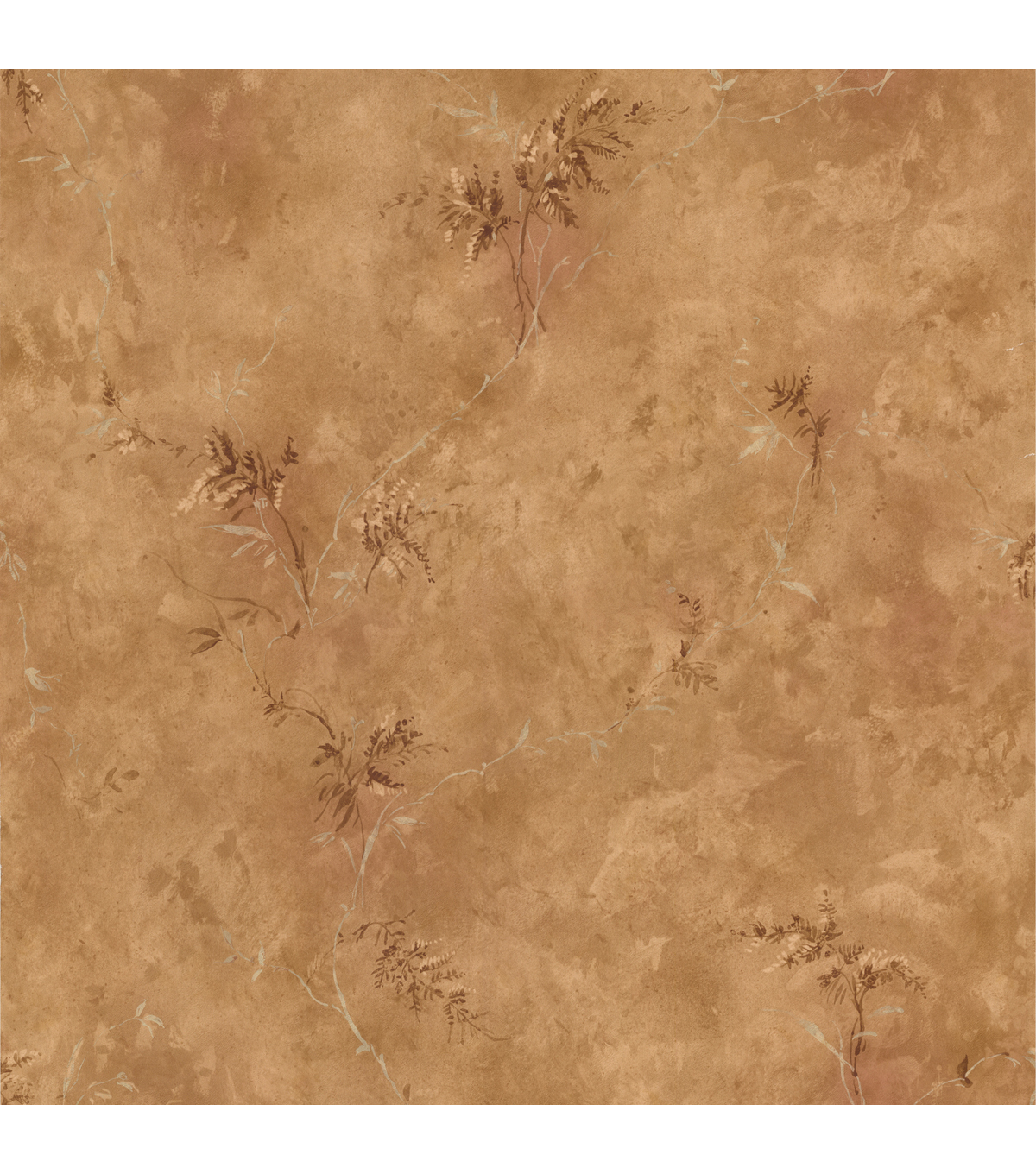 Bertrand Light Brown Satin Fern Texture Wallpaper