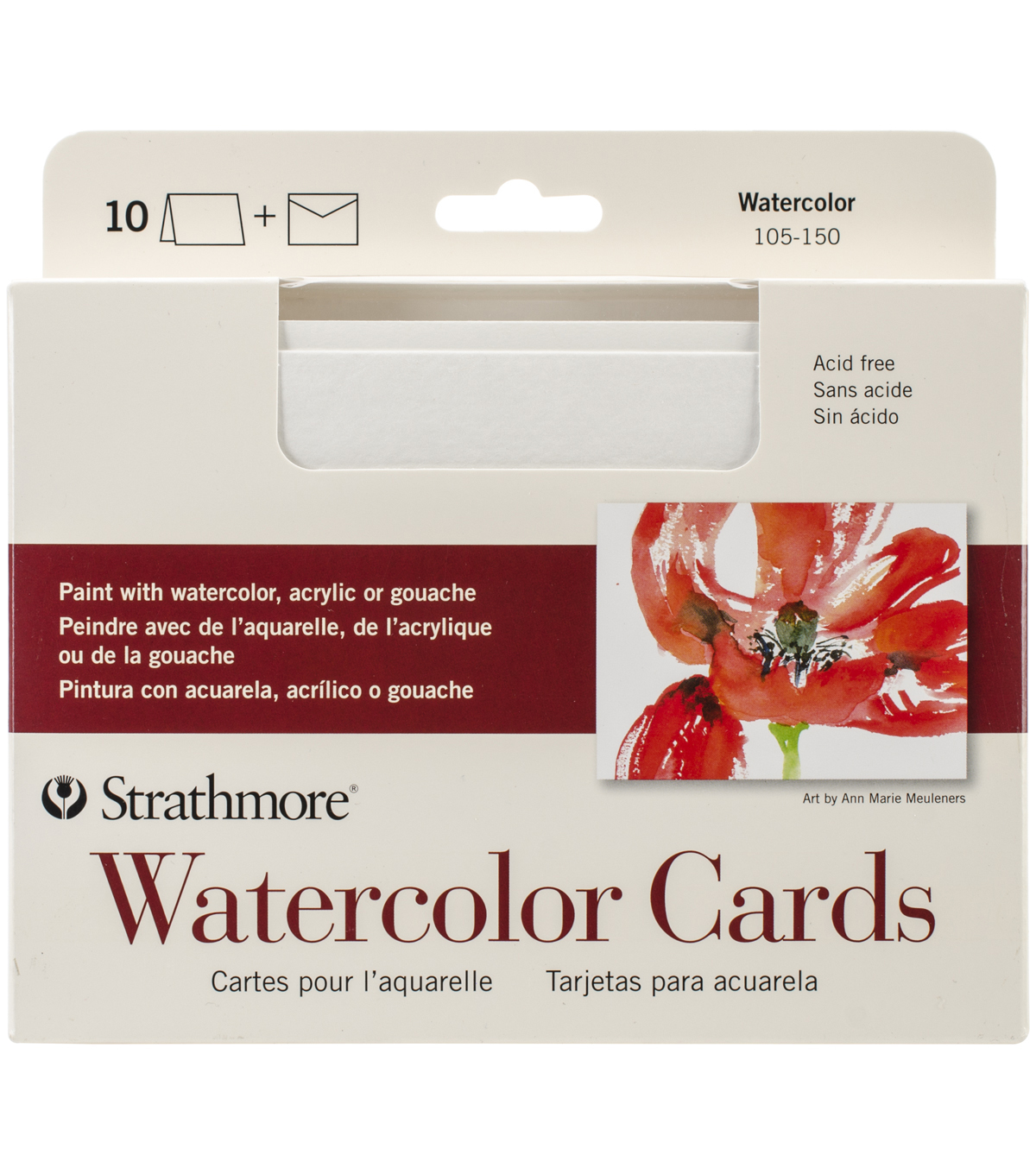 Strathmore Cards & Envelopes 5\u0022X6.875\u0022 10/Pkg-Watercolor