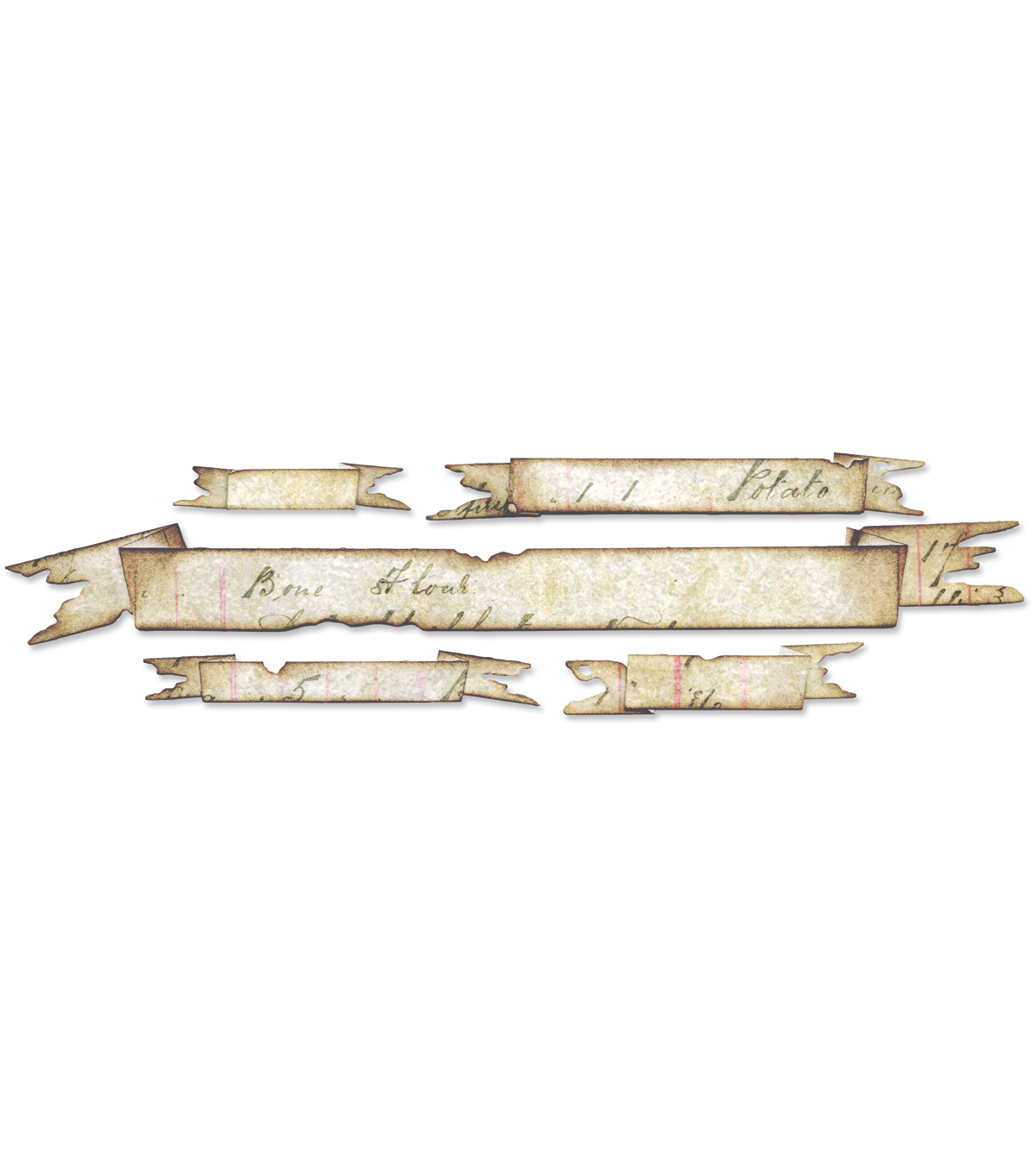 Sizzix Sizzlits Decorative Strip Die Tattered Banners
