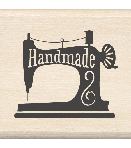 Inkadinkado Handmade Sewing Mounted Rubber Stamp 1.5\u0027\u0027x1.5\u0027\u0027