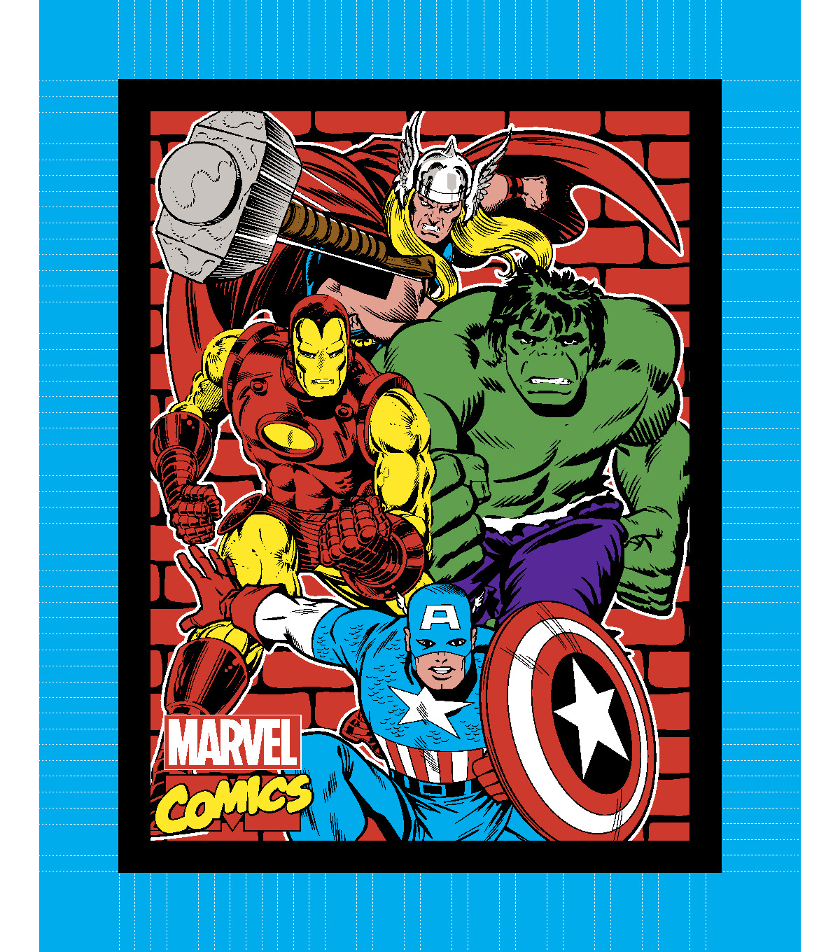 No-Sew Throw Fabric 48\u0022-Marvel Comics™