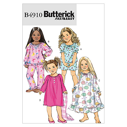 Butterick Child Sleep & Lounge-B4910