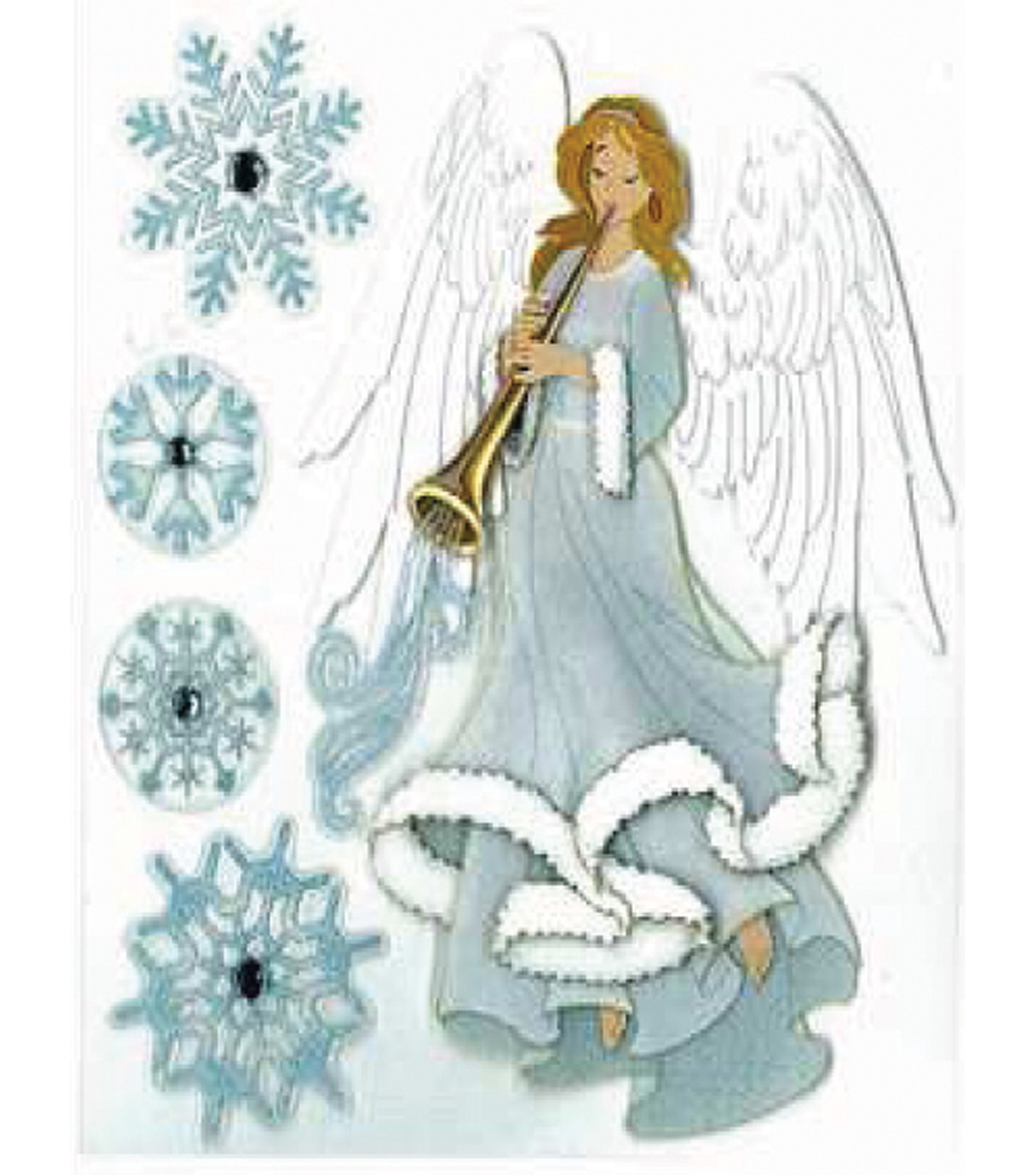 EK Success Dimensional Stickers-Winter Angel