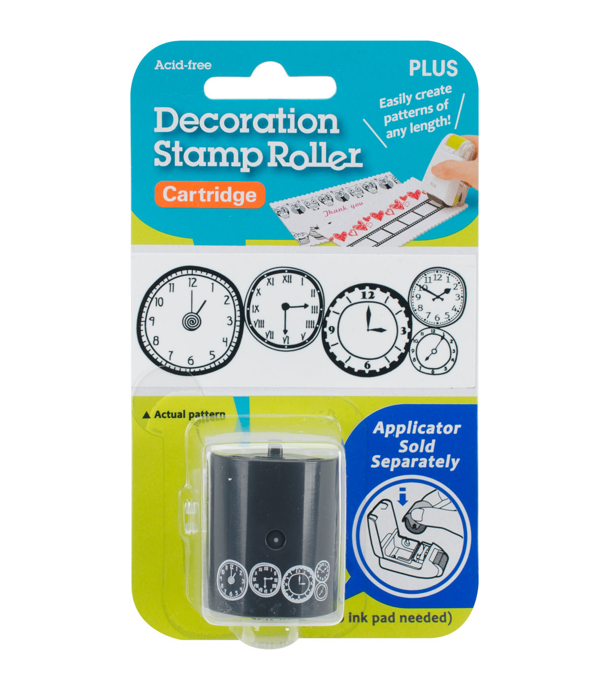 Decoration Stamp Roller Cartridge-Clocks