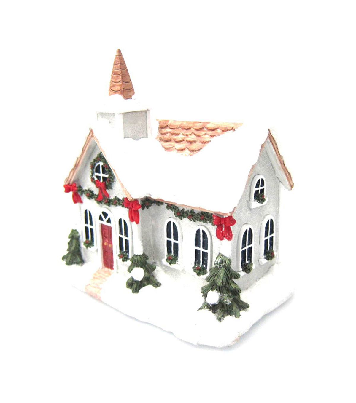 Maker\u0027s Holiday Resin Church-White