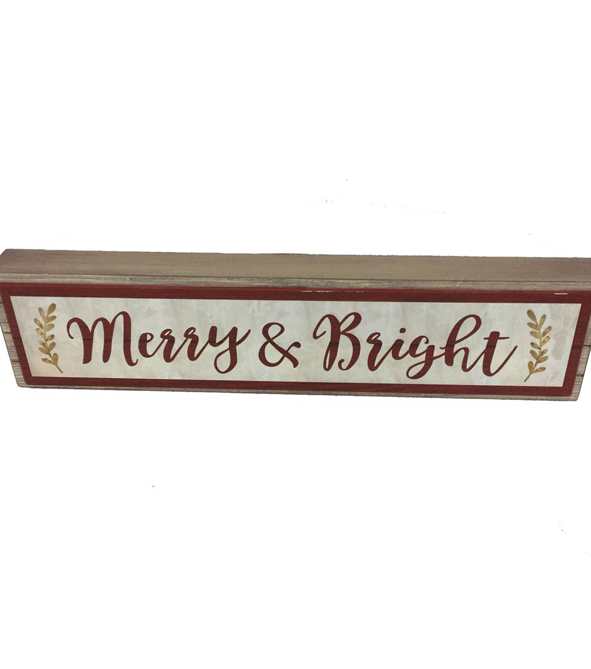 Maker\u0027s Holiday Christmas Wood Block-Merry & Bright