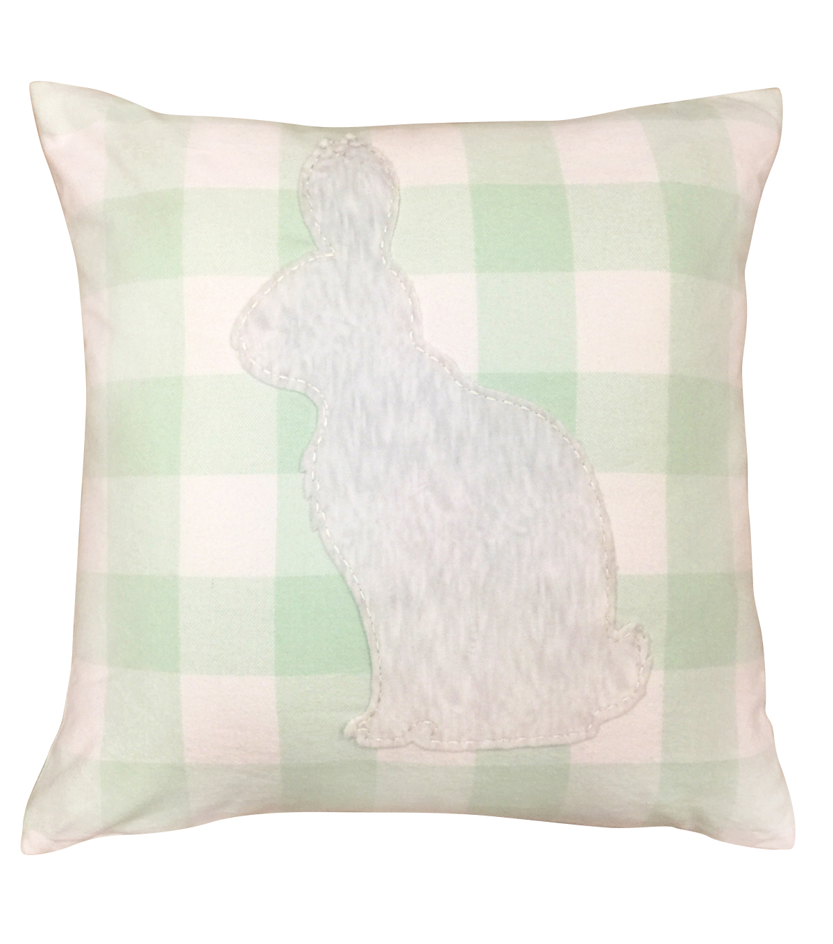 Easter 18\u0027\u0027x18\u0027\u0027 Pillow-Buffalo Check & Bunny Applique