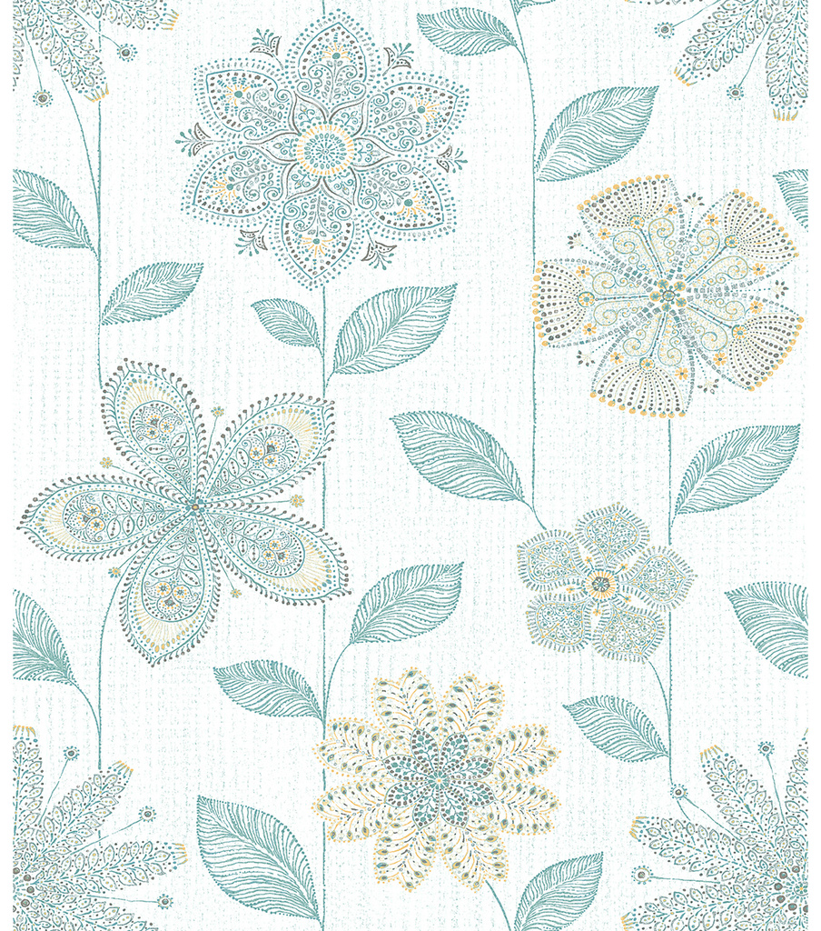 WallPops® NuWallpaper™ Batik Floral Peel and Stick Wallpaper