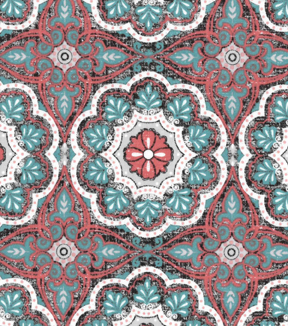 "Two Daughters™ Cotton Fabric 43""-Packed Medallions"