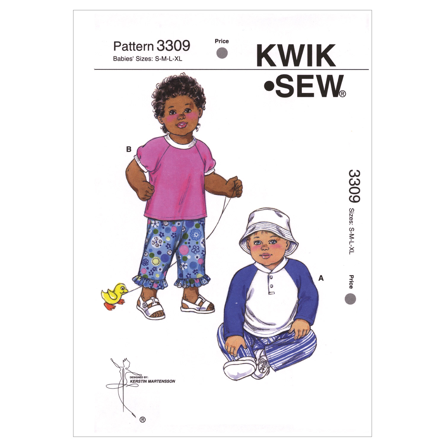 Kwik Sew Pattern K3309 Infants\u0027 Shirt & Pants-Size S-M-L-XL