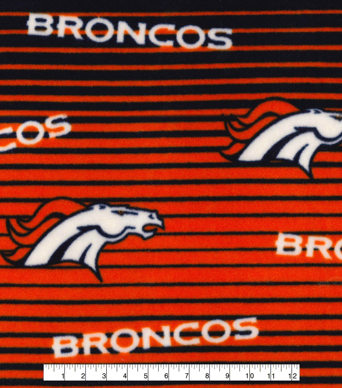 "Denver Broncos Fleece Fabric 58""-Linear"