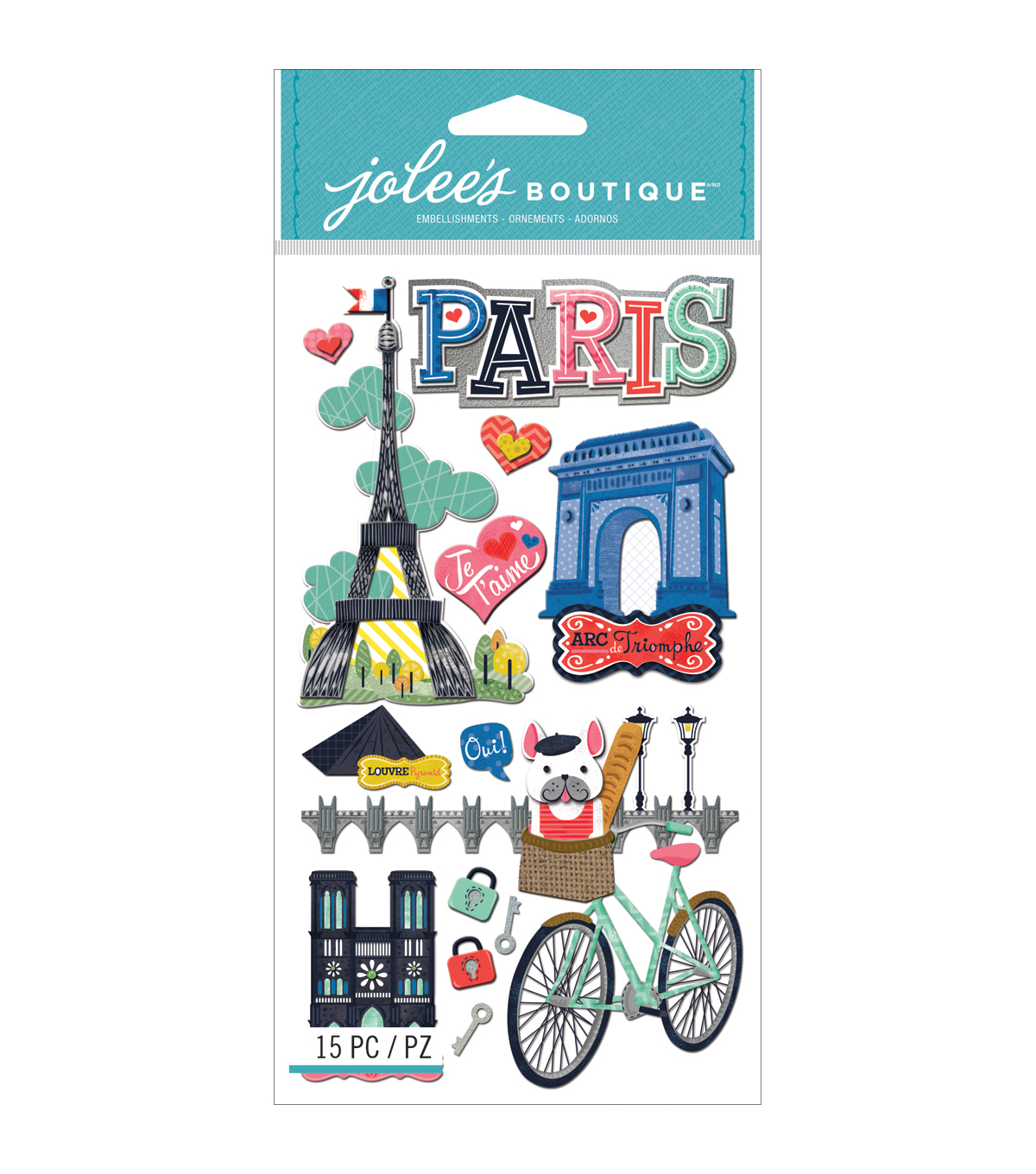 Jolee\u0027s Boutique Dimensional Stickers-Paris