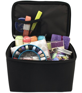 Sewing Room on Wheels 4 Piece Set with Bonus Sewing Kit-Black/White