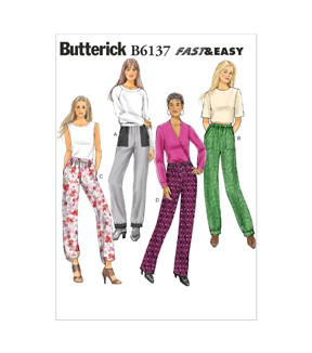 Butterick Misses Pants-B6137