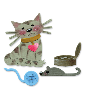 Sizzix® Originals™ Die Cat&Cat Toys by Emily Humble