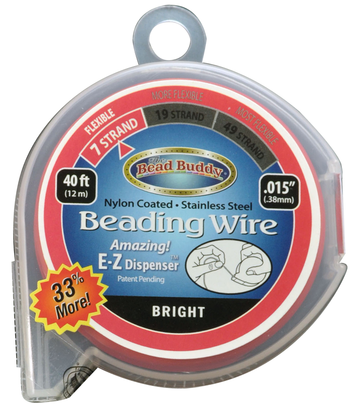 The Bead Buddy 7-Strand 30\u0027x0.015\u0027\u0027 Beading Wire
