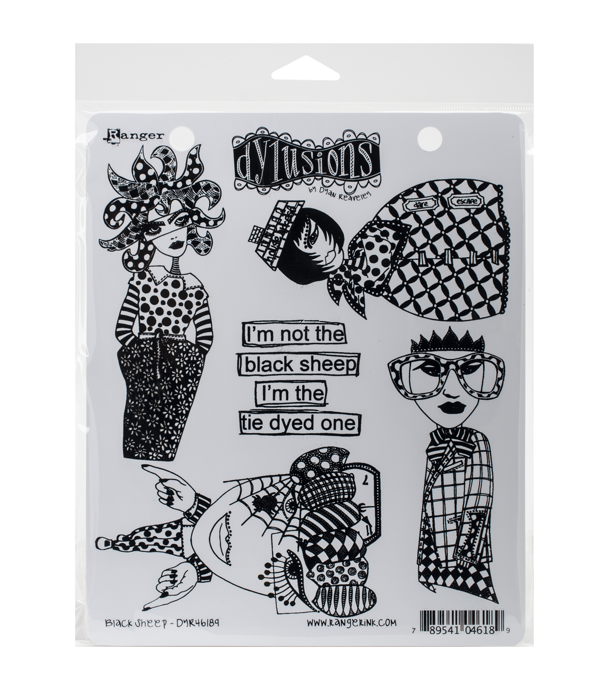 Ranger Dyan Reaveley's Black Sheep Dylusions Cling Stamp