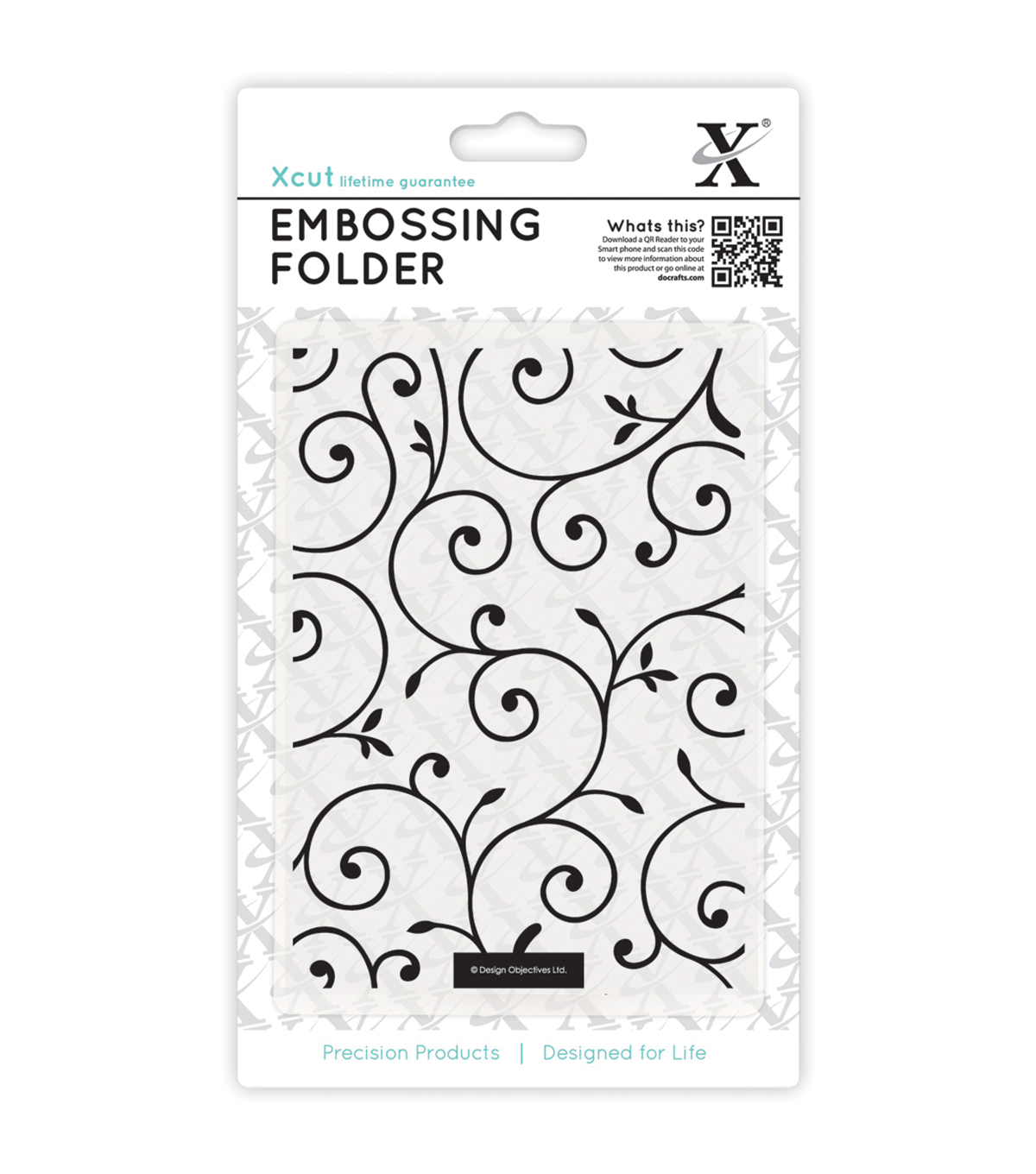 Xcut Universal A6 Delicate Flourishes Embossing Folder