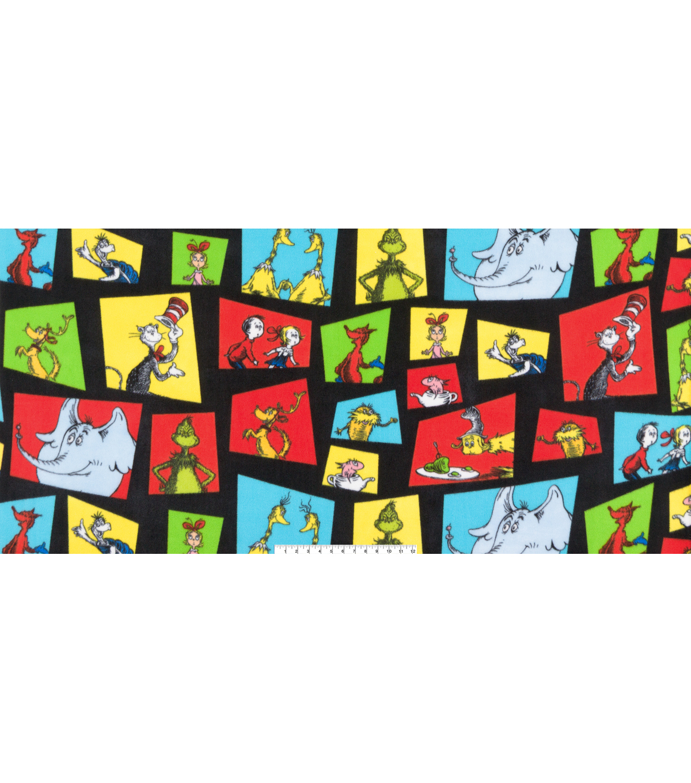Dr Seuss Fleece Fabric 60 U0027 Multi Character Block