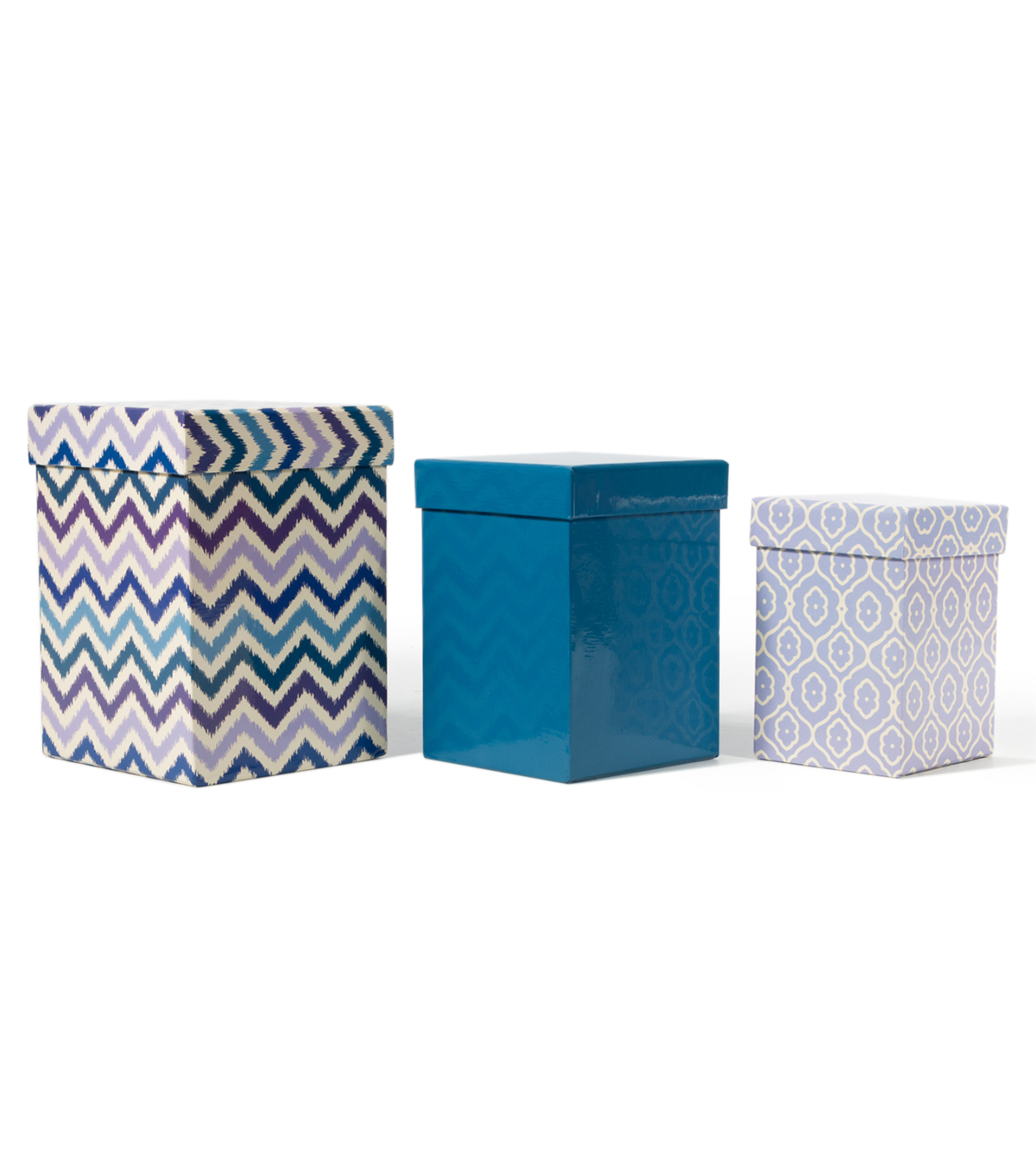 DCWV Square Nested Box Set: Blue and Purple
