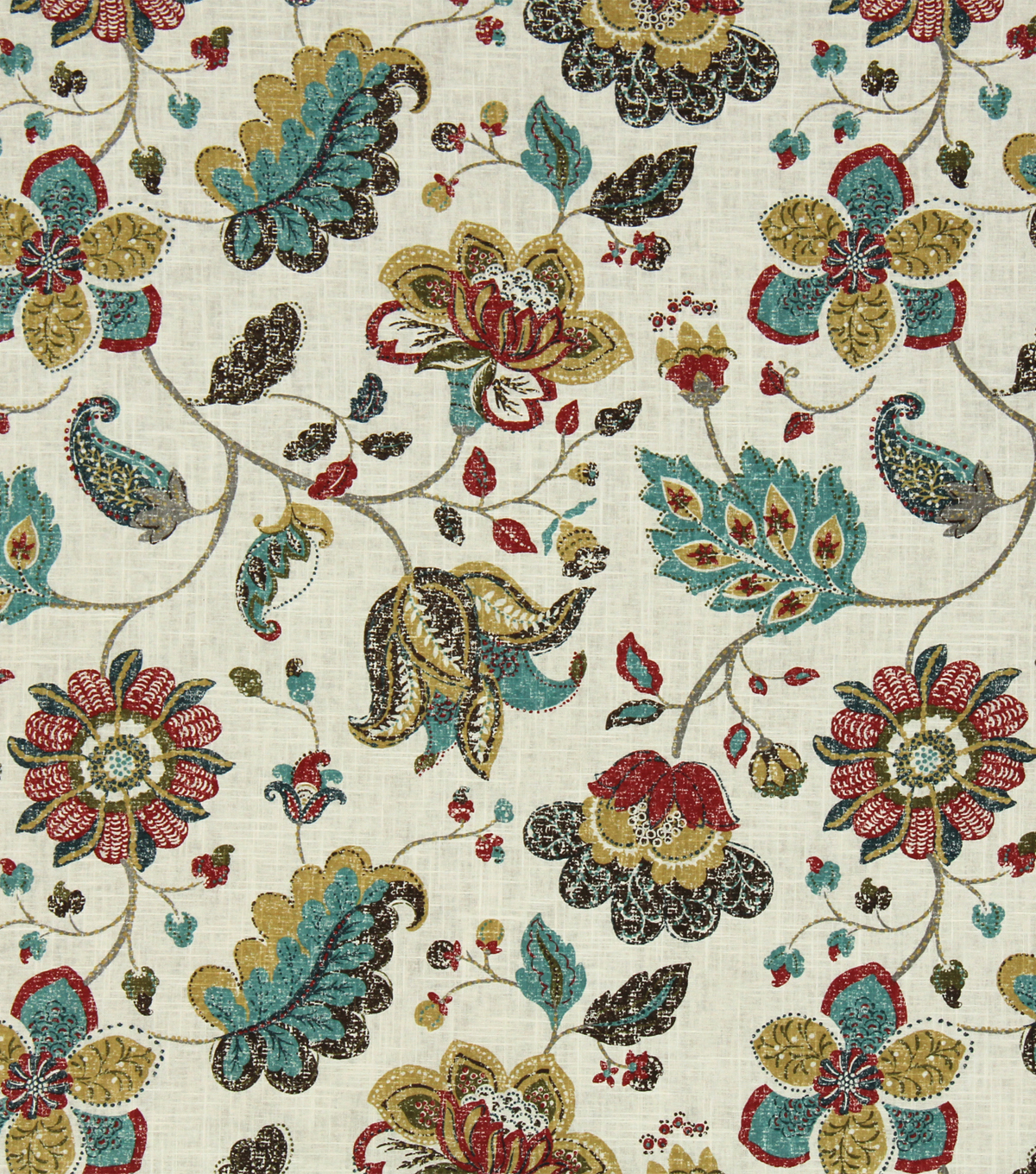 Home Decor 8\u0022x8\u0022 Fabric Swatch-Robert Allen Spring Mix Poppy
