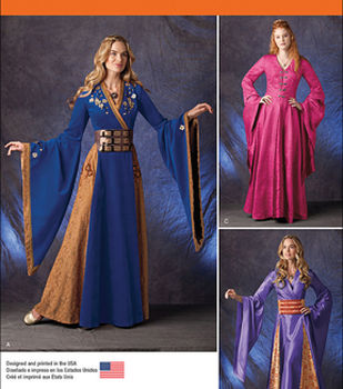 Simplicity Patterns 1009-Misses\u0027 Fantasy Costumes