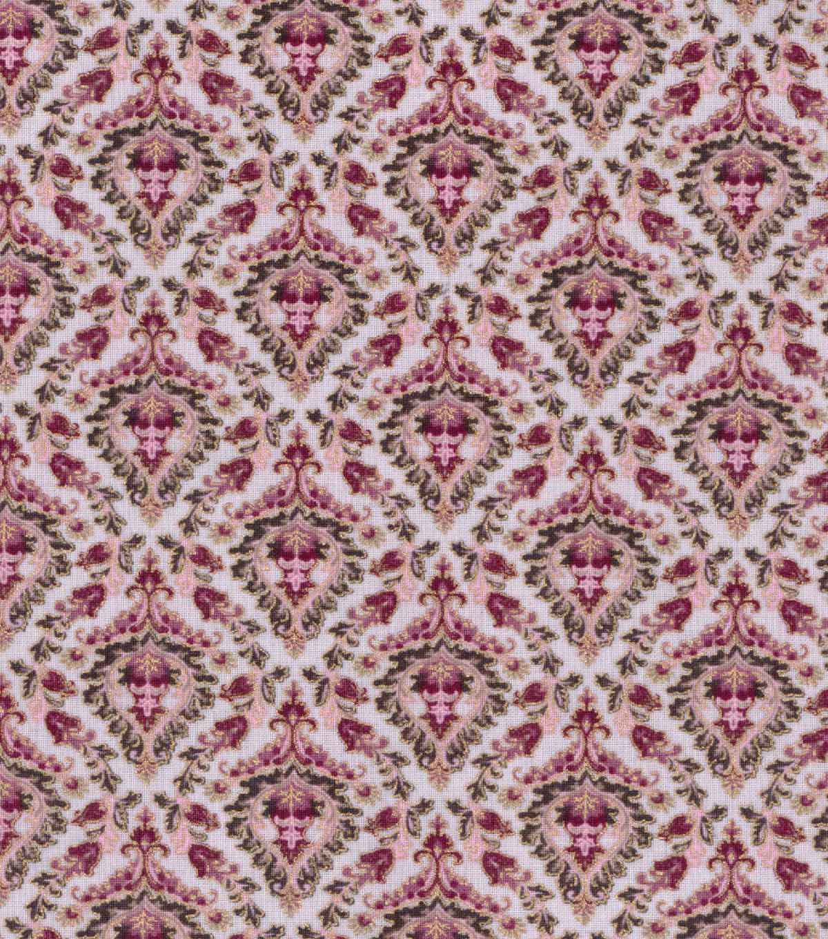 Buttercream™ Elizabeth Collection Cotton Fabric-Damask Metallic