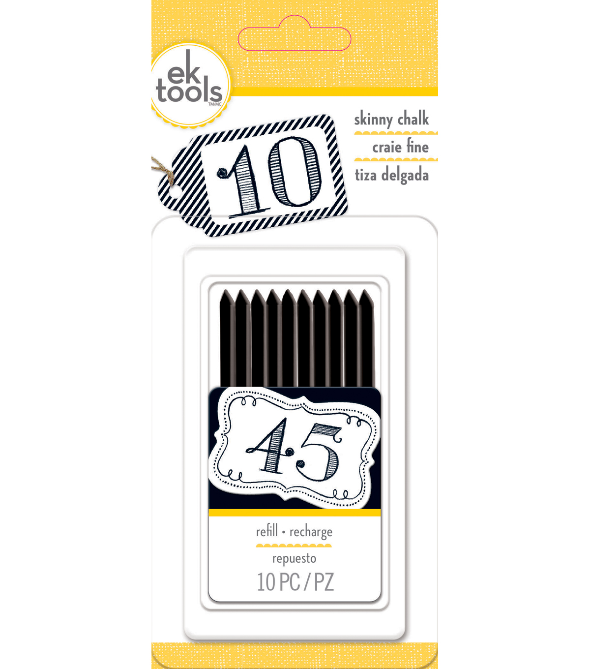 Ek Tools - Skinny Chalk Refill - Black