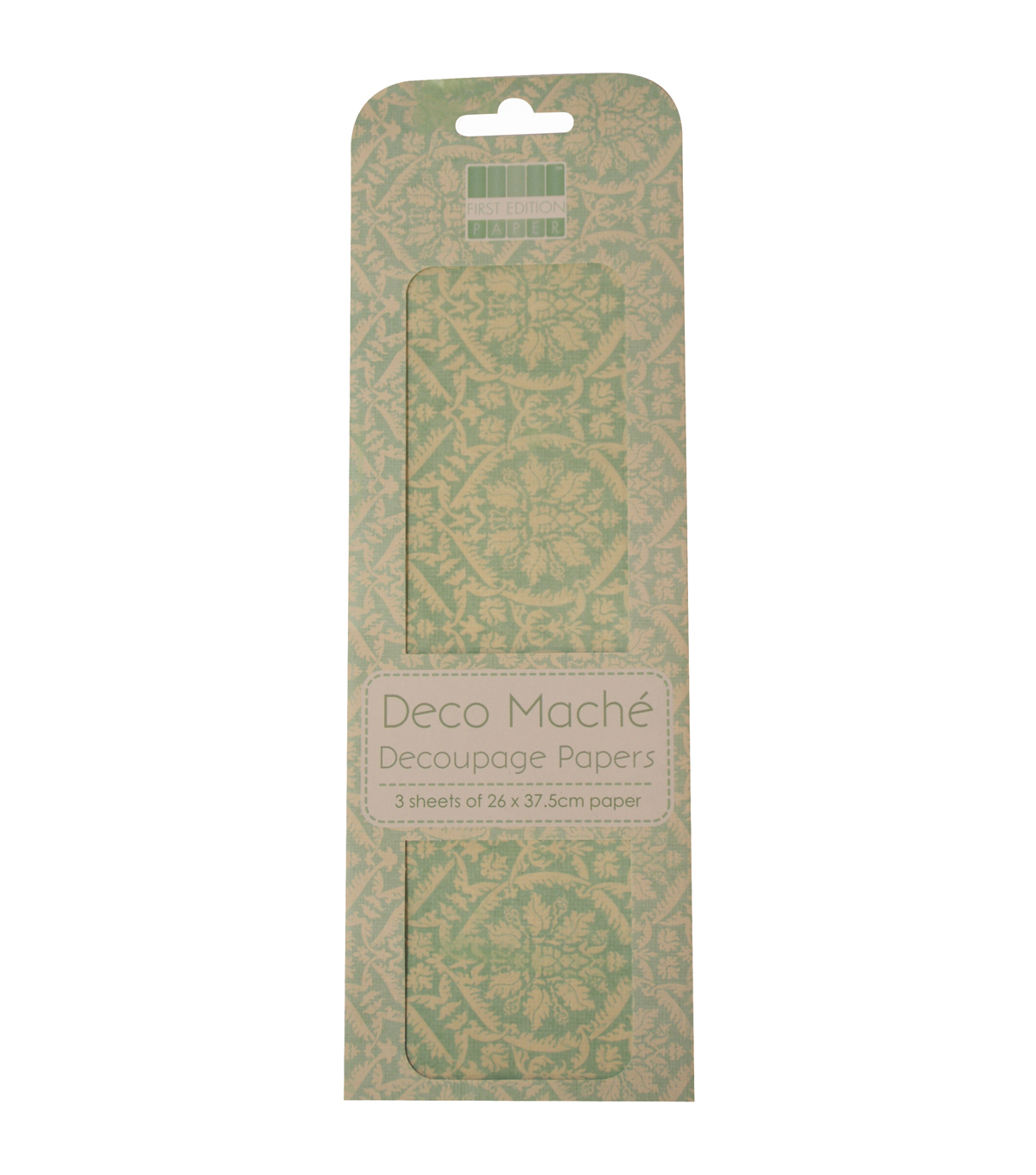 Trimcraft First Edition Blue Damask Deco Mache Paper
