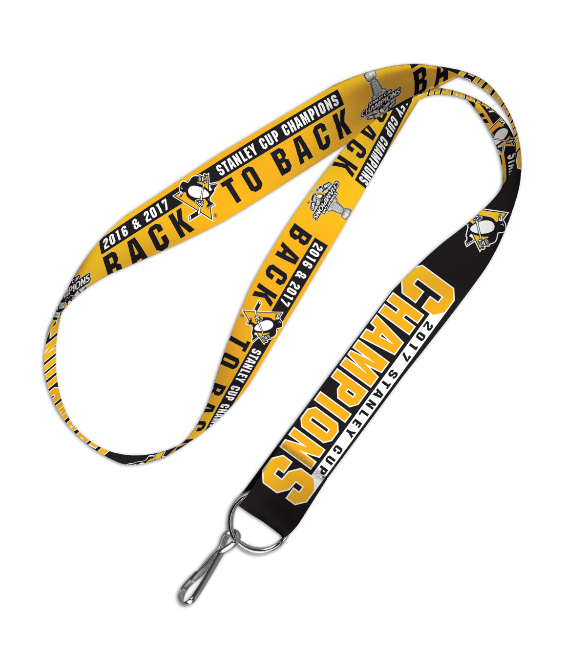 Pittsburgh Penguins 2016 & 2017 Stanley Cup Champions Lanyard